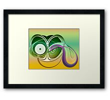 It was a strange party. Framed Print