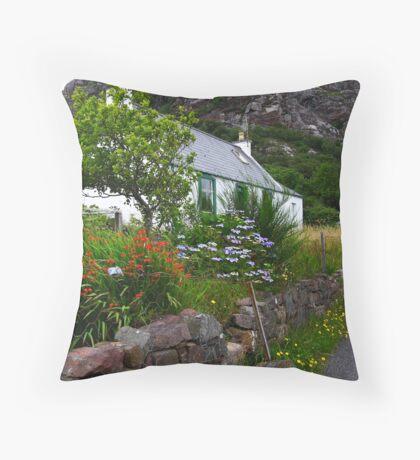Scottish hidden house Throw Pillow