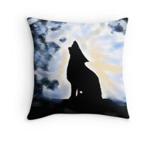 Howling up a Storm Throw Pillow