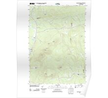 Maine USGS Historical Map New Vineyard 20110829 TM Poster