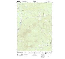 Maine USGS Historical Map New Vineyard 20110829 TM Photographic Print