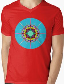 Radiating colors Mens V-Neck T-Shirt