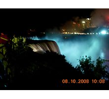 Niagara at night Photographic Print