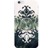 swans and forest - papercut patterns iPhone Case/Skin