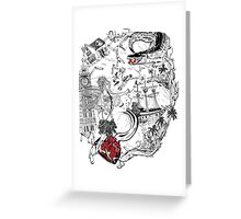 TO THE ISLAND Greeting Card