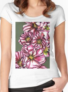 Almond tree flowers Women's Fitted Scoop T-Shirt