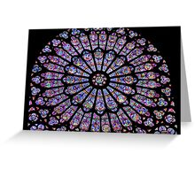 Notre Dame Window Greeting Card