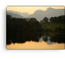Langdale evening Canvas Print