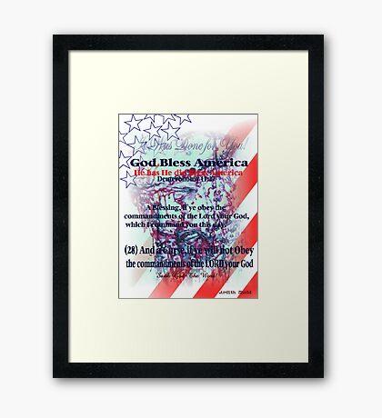God Has Blessed America has has has  hassssssssss Framed Print