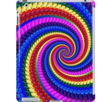 Rainbow Psychedelic Spiral Fractal Pattern iPad Case/Skin