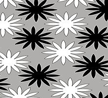 Black and White Daisy Chain by Tarnya  Burke