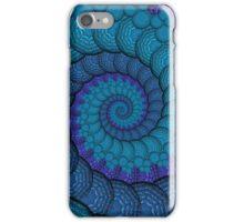 Blue Peacock Fractal Spiral iPhone Case/Skin