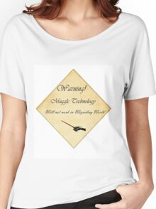 HP Muggle Technology Template, Harry Potter Women's Relaxed Fit T-Shirt