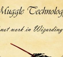 HP Muggle Technology Template, Harry Potter Sticker