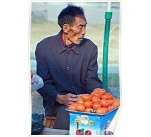 Hollow Cheeked Tomato Vendor Poster