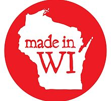 Made in WI - Red Circle by aaronarthur