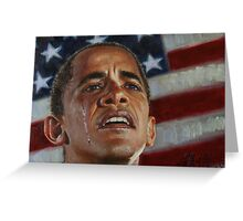 Barack Obama - Change for America, for the World, for All of Us - The Audacity of Hope Greeting Card