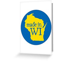 Made in WI - Blue Circle Greeting Card