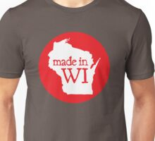 Made in WI - Red Circle Unisex T-Shirt