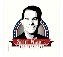 Scott Walker for President Art Print