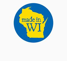 Made in WI - Blue Circle Men's Baseball ¾ T-Shirt