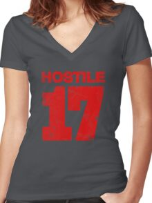 Hostile 17 Women's Fitted V-Neck T-Shirt