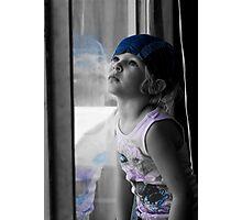 Blue Girl Photographic Print