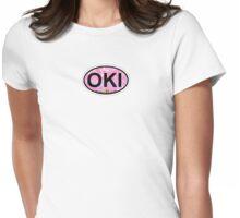 Oak Island. Womens Fitted T-Shirt