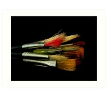 Brushes Art Print