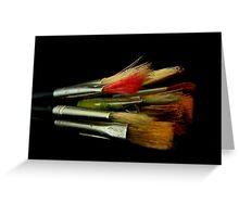 Brushes Greeting Card