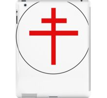 Free French Air Force (Cross of Lorrain) Emblem iPad Case/Skin