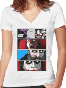 Killer Clowns T-Shirt! Women's Fitted V-Neck T-Shirt