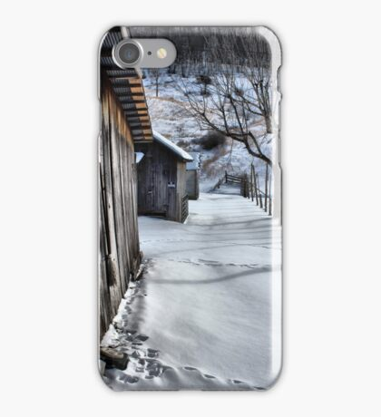 A snowy scene from West VA. iPhone Case/Skin