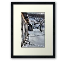 A snowy scene from West VA. Framed Print