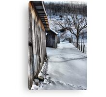 A snowy scene from West VA. Canvas Print