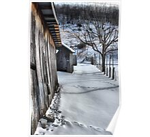 A snowy scene from West VA. Poster