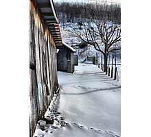 A snowy scene from West VA. Photographic Print