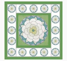 Green Lotus Mandala flower Kids Clothes