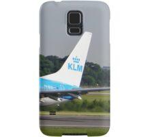 KLM 737 Departing Manchester Airport Samsung Galaxy Case/Skin
