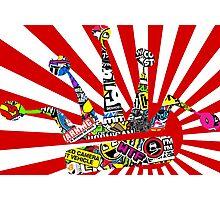 Rising Sun W/ Stickerbomb JDM Crown Photographic Print