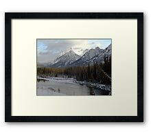 Early winter snowfall, Banff National Park Framed Print