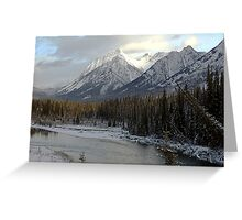 Early winter snowfall, Banff National Park Greeting Card