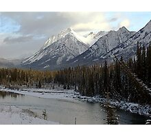 Early winter snowfall, Banff National Park Photographic Print