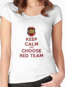 Halo Keep Calm Women's Fitted Scoop T-Shirt