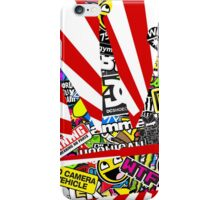 Rising Sun W/ Stickerbomb JDM Crown iPhone Case/Skin