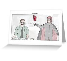 X-Men + Office Space Greeting Card