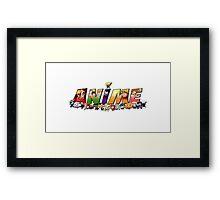 Anime items Framed Print