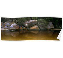 Tidal River Rocks 001 Poster