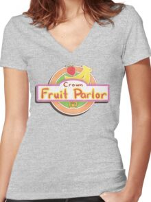 Crown Fruit Parlor Women's Fitted V-Neck T-Shirt