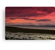 Red Sky of the Forth Canvas Print